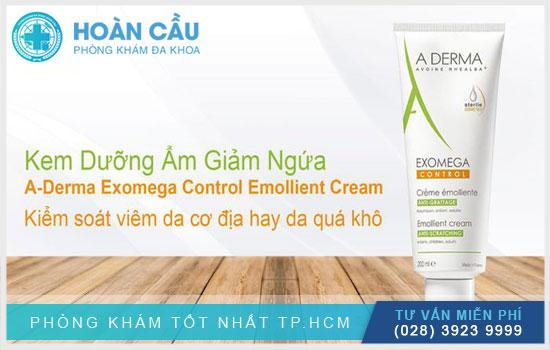 Kem A Derma Exomega Cream có công dụng làm ẩm và mềm da