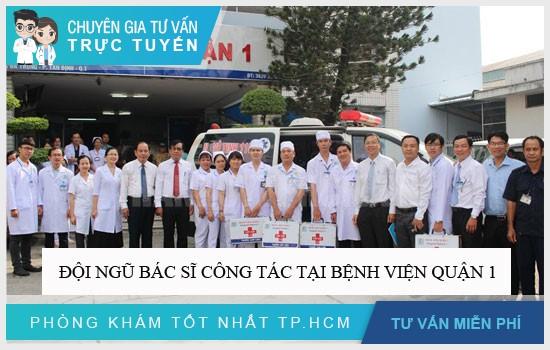 Đội ngũ bác sĩ công tác tại Bệnh viện quận 1