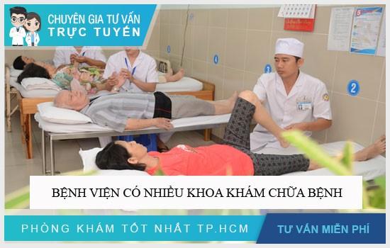 Bệnh viện có nhiều chuyên khoa khám chữa bệnh