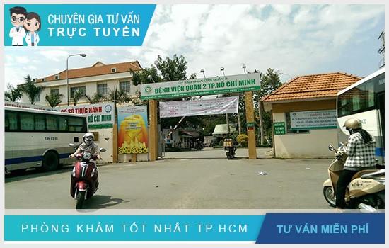 Bệnh viện Quận 2 nằm ở số 130 Lê Văn Thịnh, P.Bình Trưng Tây, Q2, TP.HCM