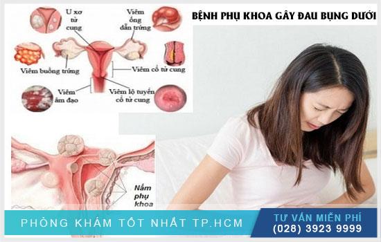 Bệnh phụ khoa gây đau bụng dưới