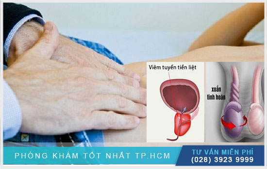 Viêm tuyến tiền liệt ở nam giới gây đau bụng dưới