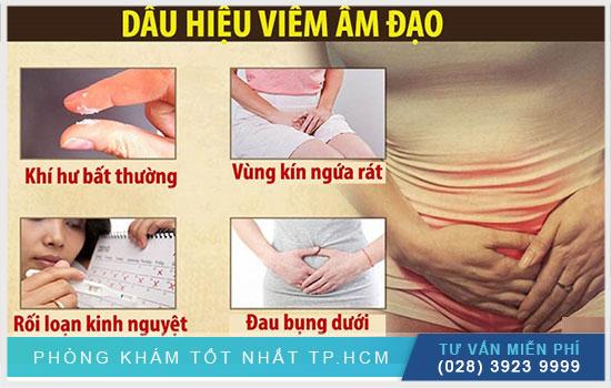 Các dấu hiệu viêm âm đạo