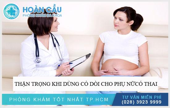 Thận trọng khi dùng cỏ dòi cho phụ nữ có thai