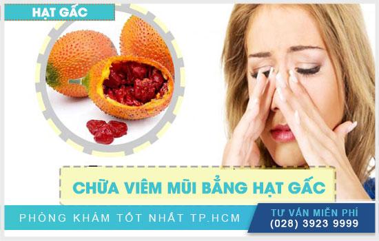 Cách chữa viêm mũi bằng hạt gấc cực kỳ hiệu quả