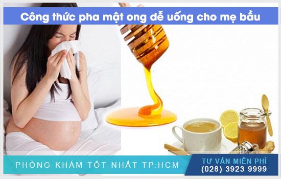 Công thức pha mật ong dễ uống cho mẹ bầu