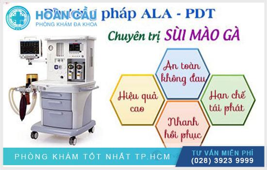 ALA-PDT là kỹ thuật chữa sùi mào gà an toàn hiệu quả