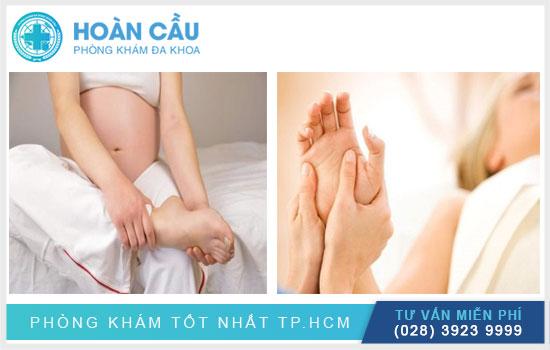 Đau nhức chân tay khi mang thai