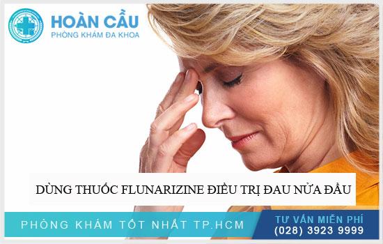 Dùng thuốc Flunarizine điều trị đau nửa đầu