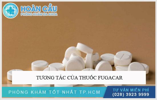 Tương tác của thuốc Fugacar
