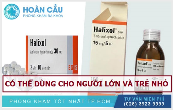 Thuốc Halixol có thể sử dụng cho cả người lớn và trẻ em