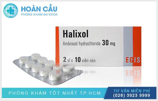 Thuốc Halixol có tác dụng tiêu đờm và chất nhầy gây tắc nghẽn đường hô hấp