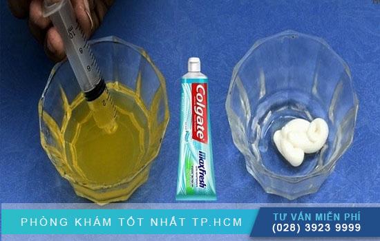 hướng dẫn thử thai bằng kem đánh răng