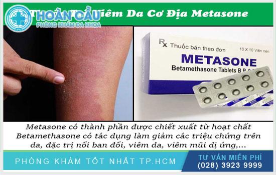 Thuốc Metasone được sử dụng điều trị viêm thấp khớp, viêm da…