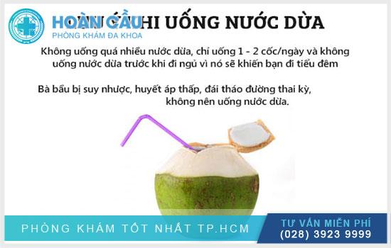Những điều cần thận trọng khi uống nước dừa