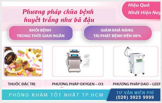 Điều trị khí hư vón cục ở đâu uy tín tại TPHCM