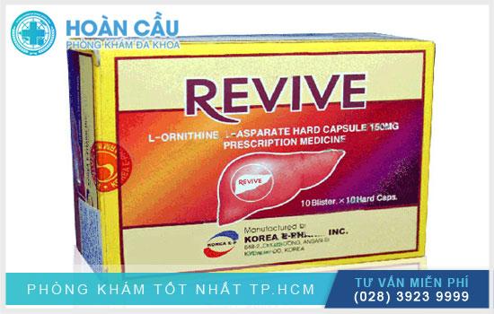 Thuốc Revive có tác dụng kích thích hoạt động giải độc của gan