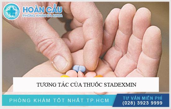 Tương tác của thuốc Stadexmin