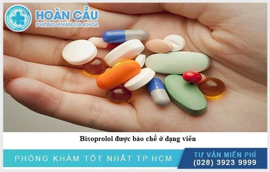 Bisoprolol được bào chế ở dạng viên