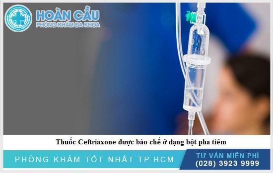 Thuốc Ceftriaxone có thể dùng để tiêm truyền hoặc tiêm trực tiếp vào tĩnh mạch