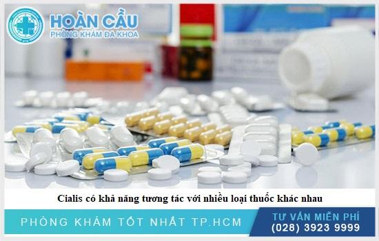 Cialis có khả năng tương tác với nhiều loại thuốc khác nhau
