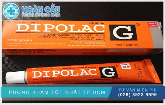 Thuốc Dipolac dùng bôi ngoài da