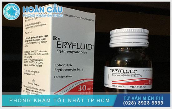 Eryfluid có tên hoạt chất là Erythromycin