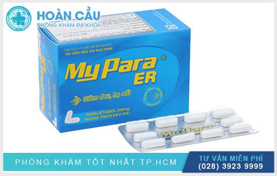 Mypara ER là thuốc với thành phần chính là Paracetamol