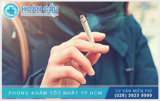 Không được hút thuốc lá trong thời gian dùng thuốc