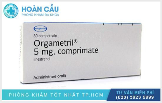 Thuốc có tên biệt dược là Orgametril® và tên hoạt chất của thuốc là Lynestrenol