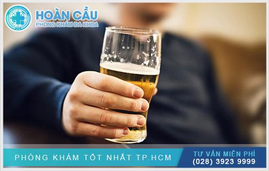 Không được uống rượu bia trong thời gian dùng thuốc