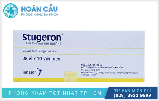 Stugeron có tên biệt dược là Stugeron® và tên hoạt chất của thuốc là Cinnarizine