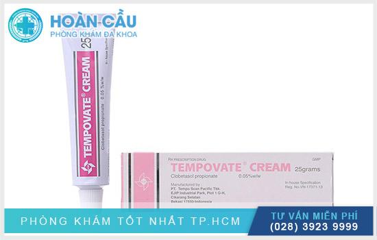 Tempovate được bào chế dưới dạng kem bôi ngoài da