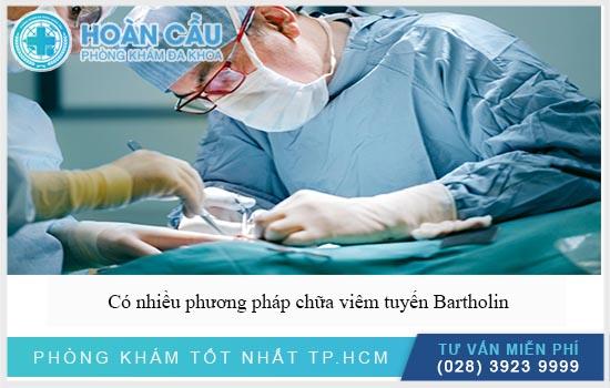 Có nhiều phương pháp chữa viêm tuyến Bartholin