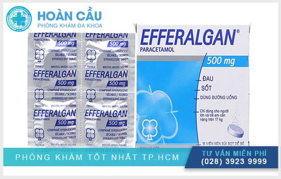 Thuốc Efferalgan 500mg giúp giảm đau hạ sốt
