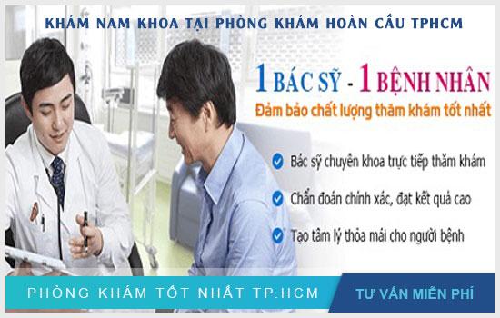 khám nam khoa tại phòng khám đa khoa hoàn cầu