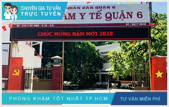 Trung tâm Y tế dự phòng quận 6 chính là trung tâm nằm ở đường Bà Hom, Phường 13, Q.6, TP.HCM