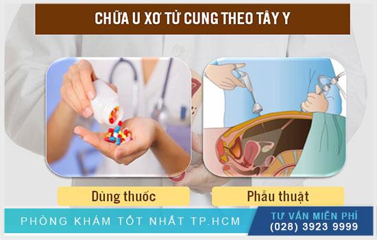 Cách chữa u xơ tử cung theo tây y