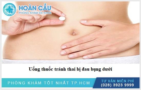 Uống thuốc tránh thai bị đau bụng dưới