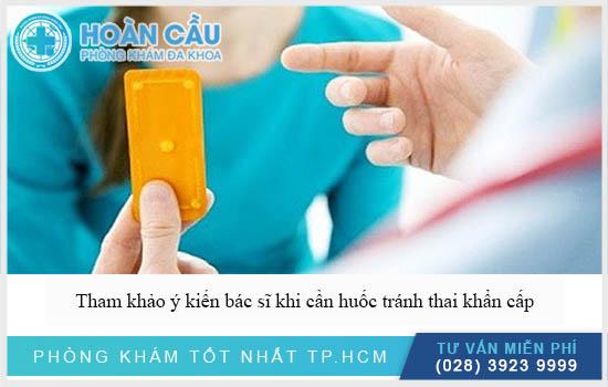 Tham khảo ý kiến bác sĩ trước khi dùng thuốc tránh thai khẩn cấp