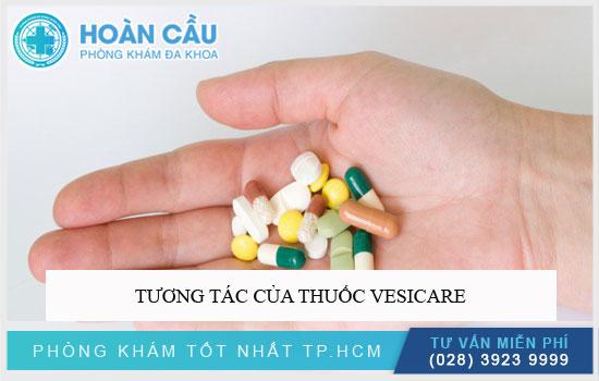 Tương tác của thuốc Vesicare